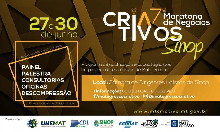 7º Maratona de Negócios Criativos De  27 à 30 de Junho