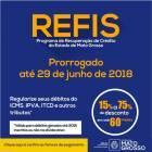 Adesão ao Refis pode ser feita até dia 29 de junho