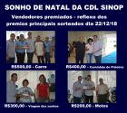 CDL parabeniza Vendedores Premiados no Sonho de Natal