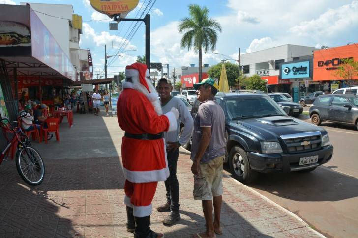 Papai Noel da CDL na Ciclo Amazonas
