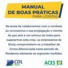 CDL e ACES divulgam MANUAL DE BOAS PRÁTICAS PARA OS LOJISTAS
