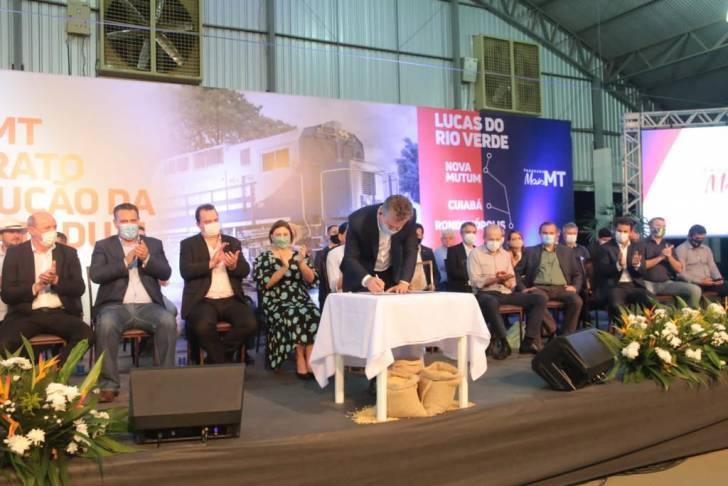 Assinado contrato para execução da 1ª Ferrovia Estadual de Mato Grosso
